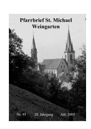 Pfarrbrief Nr. 93 - St. Michael Weingarten