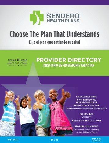 STAR PCP Medicaid Provider Directory - Sendero Health Plans