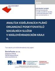 Analýza vzdělávacích plánů poskytovatelů sociálních služeb v ...