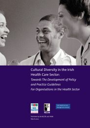 Cultural Diversity in the Irish Health Care Sector: Towards - NCCRI
