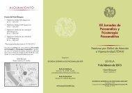 XX Jornadas de Psicoanálisis y Psicoterapia Psicoanalítica