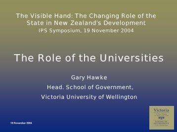 Gary Hawke - Victoria University of Wellington