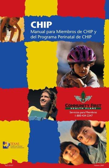 Manual para Miembros de CHIP y del Programa Perinatal de CHIP