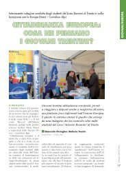 cittadinanza europea: cosa ne pensano i giovani trentini? - Riviste