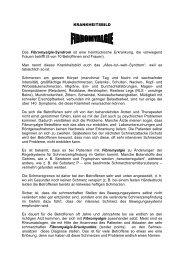 Krankheitsbild September 2011 - Selbsthilfe Tirol