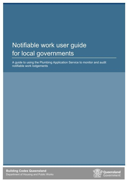 User guide for local governments - Department of Housing and ...