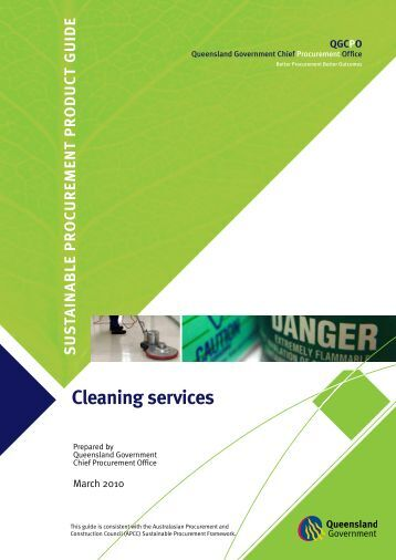 Sustainable procurement product guide: Cleaning services