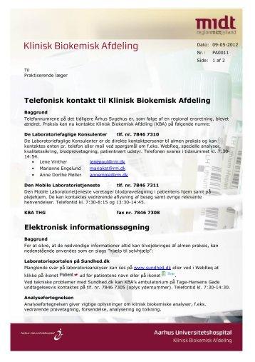 Nyhedsbrevet fra Klinisk Biokemisk Afdeling - Sundhed.dk