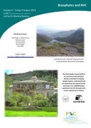 Course Information Leaflet - Field Studies Council