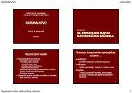 10. Operacijski sustav - Fakultet prometnih znanosti - Sveučilište u ...
