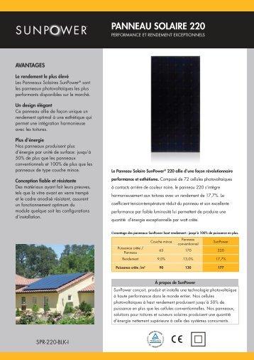 PANNEAU SOLAIRE 220 - SAT Solar