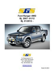 Ford Ranger 4WD Bj. 2007- 01/12 Bj. 01/2012 - - SGS
