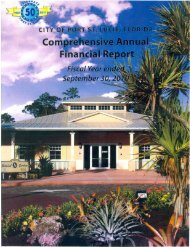 2010 Comprehensive Annual Financial Report - City of Port St. Lucie