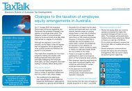 Changes to the taxation of employee equity arrangements in ... - PwC