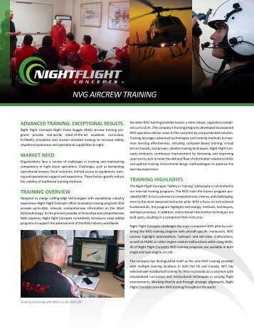 NVG Aircrew Training brochure - Night Flight Concepts