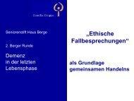 Ethische Fallbesprechungen - Berger Runde
