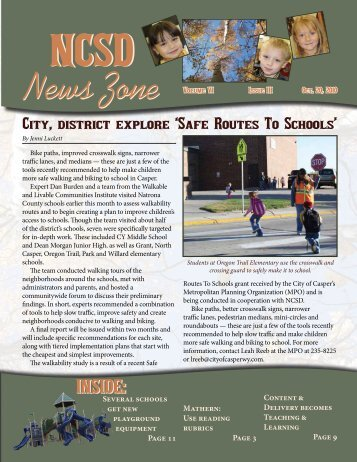 October 2010 NCSD News Zone - Natrona County Schools