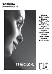 Digitale RV74*-reeks Digitale TV74*-reeks ... - Toshiba-OM.net
