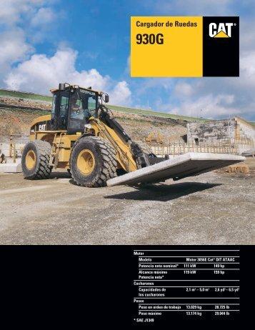 Specalog for Cargador de Ruedas 930G, ASHQ5610 - Kelly Tractor