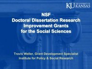 Information on NSF Dissertation Research Support Grants for ...