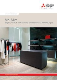 Mr. Slim Produktkatalog - Mitsubishi Electric