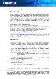 Regulamin głosowania w konkursie Kobieta Biznesu 2012 - Bankier.pl