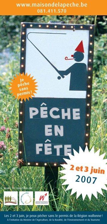 Flyer Pêche en Fête 2007