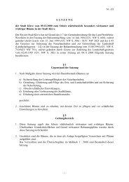61 - 03 S A T Z U N G der Stadt Kleve vom 09.12.2000 zum Schutz ...