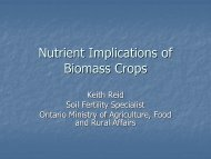 Nutrient Implications of Biomass Crops