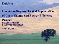 Understanding Accelerated Depreciation of Green Energy and