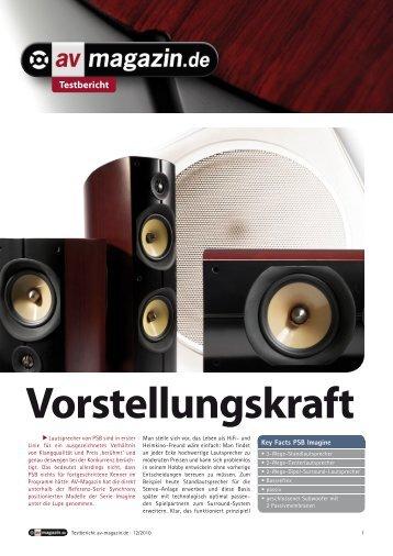 audio 10/11: Imagine Mini - PSB Lautsprecher Deutschland