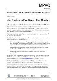 Gas Appliances Pose Danger Post Flooding - Master Plumbers ...