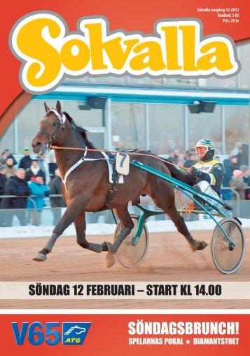 söndag 12 februari - Solvalla