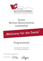 Erstes Berliner Bücherhimmel Lesefestival Programmheft