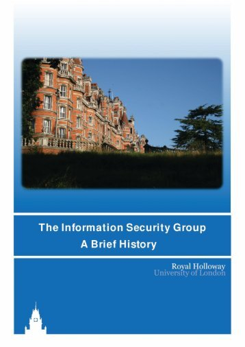 a short history of the ISG - Royal Holloway, University of London
