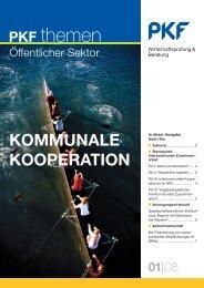 KOMMUNALE KOOPERATION - PKF