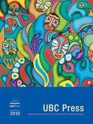 PDF catalog - UBC Press