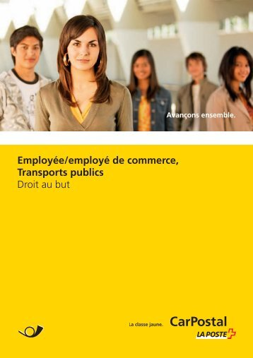 Brochure Employé(e) de commerce Transports publicsLe - Postauto