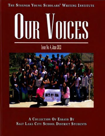 Our Voices Magazine - Issue 4, June 2012 - Salt Lake City School ...