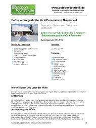 Selbstversorgerhütte für 4 Personen in Grafendorf - Outdoor-Touristik