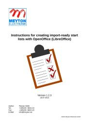 Instructions for creating import-ready start lists with ... - Meyton.info