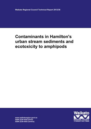 Contaminants in Hamilton's urban stream sediments and ecotoxicity ...