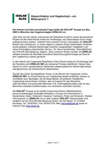 Glasarchitektur und Vogelschutz - Windowcollisions.info