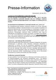 Presseinfo Leinen Los 1.+2. Juni 2013 - Maritime Landschaft ...