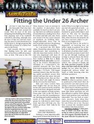 Fitting the Under 26 Archer - Archery History