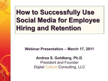 How to Successfully Use Social Media for Hiring and Retention