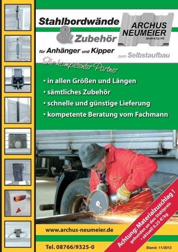 Archus Neumeier GmbH & Co. KG Stahlbordwände & Zubehör