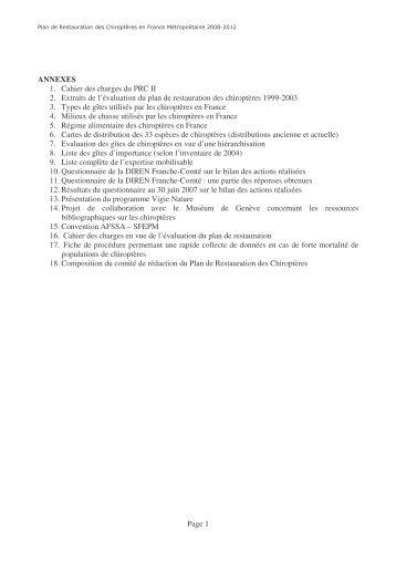 ses annexes - Société Française pour l'Etude et la Protection des ...