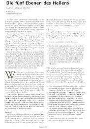 Die fünf Ebenen des Heilens - Cinak