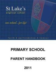 PRIMARY SCHOOL - St Luke's Anglican School